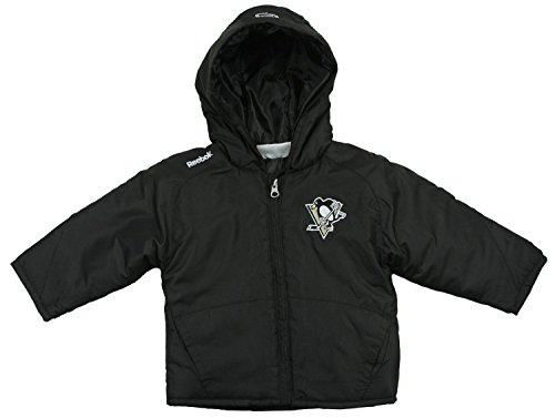 Reebok NHL Pittsburgh Penguins Little Boys 2T-4T Toddler Midweight TNT Jacket - Black