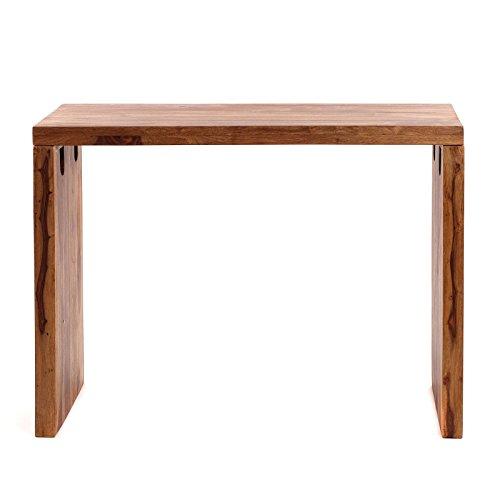 DESIGN DELIGHTS RUSTIKALER Schreibtisch Punjab | Sheesham, 100 cm | Massivholz Esszimmer Tisch
