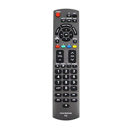 New N2QAYB000485 Replace Remote Control fit for Panasonic 32 ~ 85 LED LCD Plasma Viera TV TC-42LD24 TC-42LS24 TC-42PS14 TC-54PS14 TH-32LRU5 TH-42LRU50 TH-55LRU50 tc-p50s30 N2QAYB000321 N2QAYB000570