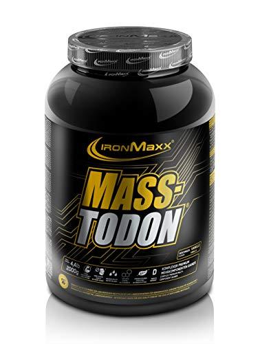 IronMaxx Masstodon - Power Weight Gainer aus hochwertigen Kohlenhydraten / Zuckerarm - Vanille - 1 x 2000g Dose