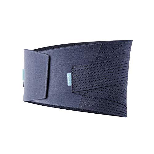 Rückenbandage für die Lendenwirbelsäule Waist-Schutz-Gurt-elastische Justierbare Doppelte Fixierung Taille Rückenstütze-Lage-Korrektor Haltungskorrektur (Color : Blue, Size : S)
