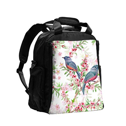 Change Diaper Bag Humming Birds Set Three Humming Bird Dad Diaper Bag Backpack Large Multifunction Travel Backpack with Diaper Changing Pad for Baby Care