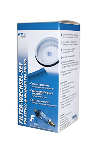 WM aquatec Filter-Wechsel-Set für Befüll- & Inlinefilter FIE-100