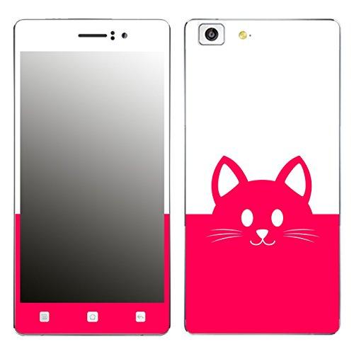 DISAGU SF-106221_1018 Design Folie für Oppo R5 - Motiv Kawaii Katzengesicht pink