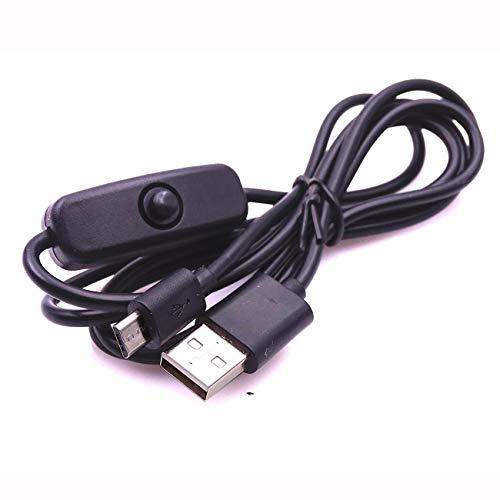Frambuesa Pi 3 Cable de alimentación con interruptor ON/OFF botón cable de carga Micro USB para cable de alimentación Banana PI frambuesa Pi 2