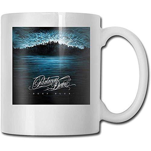 Tassen Parkway Drive tiefblauen handgefertigten Design lustige Kaffeetasse Tee Cup Geschenk für Fans Mann Frau Freundin weiß