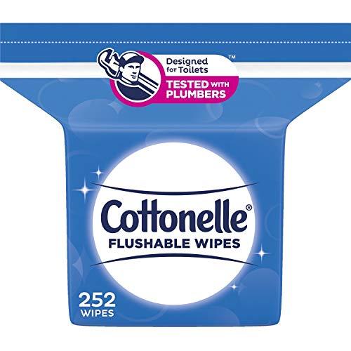 Cottonelle Fresh Care Flushable Cleansing Cloths Tub, 252 Count