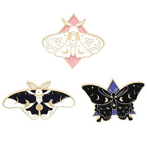 Juego de alfileres de esmalte de mariposa Cool Horror Esmalte Lapel Pins Broches para Mochilas Steampunk Badge Joyería para Mujeres