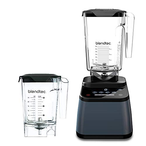 Blendtec Designer 625 Blender (96 oz) and Mini WildSide+ Jar (46 oz) Bundle Commercial-Grade Power, 4 Pre-Programmed Cycles, 6-Speeds, Sleek and Slim, Slate Grey