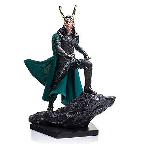 Generic Action Charakter Spielzeug Modell Kampfszene Marvel Avengers 25 cm Spielzeug Statue Marvel Avengers Raytheon 3 Götter Abenddämmerung Loki Rocky Hand Modell Filmszene Statue Dekoration