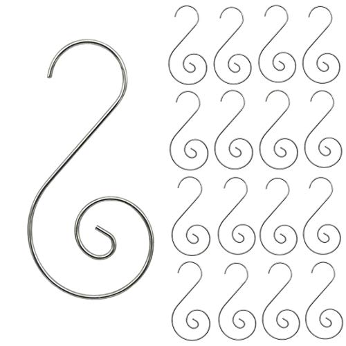 Supoice 160 Pcs Christmas Ornament Hooks Stainless Steel Christmas Ornament Hangers Perfect for Christmas Tree Decorations