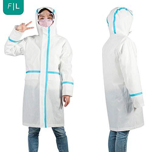 Einweg-Isolationsseil-Schutzkleid Wasserdichtes Tröpfchenschutzschutzgerät mit Kapuze Arbeitsschutzausrüstung