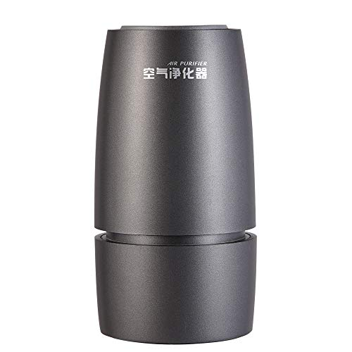TOPCHANCES Tragbarer USB-Luftreiniger mit echtem HEPA-Filter, Geruchsneutralisierer für Rauch, Staub, Schimmel, Haustiere, Pollen
