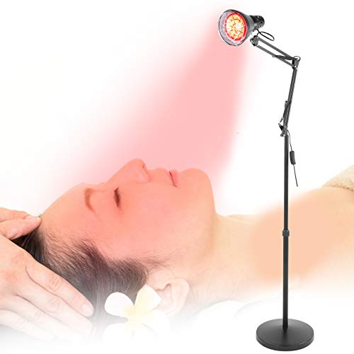 Brrnoo 150W Rotlichtlampe Wärmelampe, Infrarot Heiztherapielampe, Infrarotlampe zur Wärmedämmung, Linderung von Infrarotschmerzen Zur Erwärmung der Wärme zur Schmerzlinderung bei Rückenschmerzen(EU)