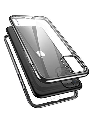SUPCASE [Unicorn Beetle Electro Series] Phone Case for Apple iPhone 11 2019 6.1 Inch, Metallic Electroplated Edges, Slim Full-Body Protective Case with Built-in SP (Black)
