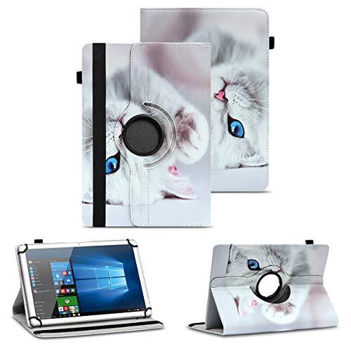 NAUC Schutzhülle kompatibel für Asus ZenPad 10 Z300M Z301ML Z301MFL Tablet Hülle Tasche Standfunktion 360° Drehbar aus Kunst-Leder Cover Universal Hülle, Farben:Motiv 10