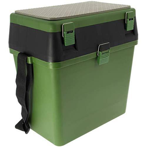 G8DS® Seatbox Sitzbox inklusive Staufächer im Deckel und Schultergurt Karpfenangeln Camping Outdoor