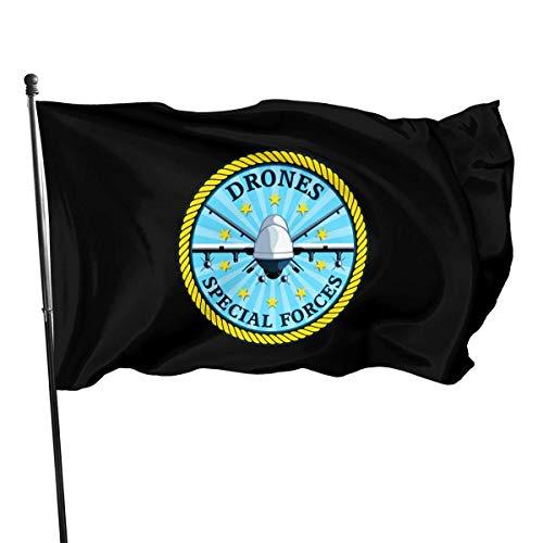 GYUB Drohnen Special Forces 3x5 Fuß amerikanische US-Polyester-Flagge - Lebendige Farbe und UV-Lichtechtheit - Leinwandkopf
