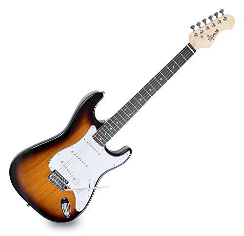 Shaman Element Series STX-100VS - E-Gitarre in ST-Bauweise - geölter Hals aus Ahorn - Macassar-Griffbrett - Vintage Sunburst