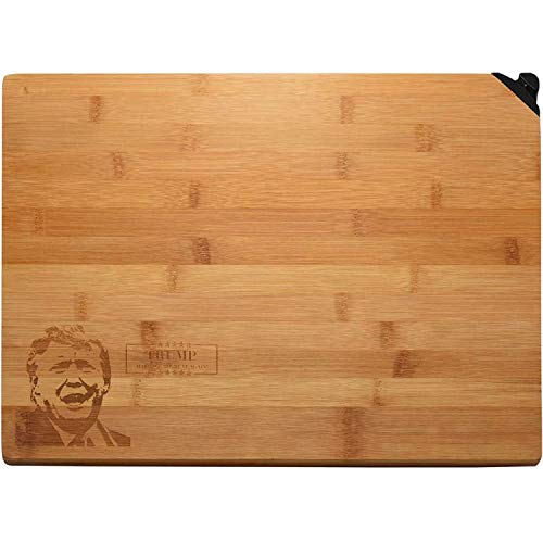 Organic Bamboo Cutting Board for Kitchen Best Kitchen Chopping Board for Meat Cheese and Vegetables,Butcher Block with Knife Sharpener 13.5 x 9.5 x 1 inches