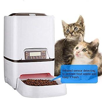 ETH Alimentateur de synchronisation pour animaux de compagnie commode automatique 6L avec enregistreur vocal Speake affichage à cristaux liquides capteur infrarouge chat aliment distributeur de nourri