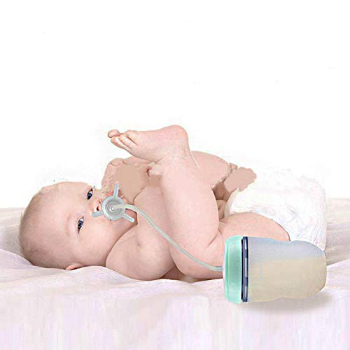NO BAND 250ml Babyflasche Kids Cup Silikon Sippy Children Training Niedliches Baby Trinkwasser Stroh Fütterungsflasche Freisprechflasche-Pink