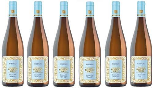 2019er Rheingau Riesling Weißwein Weingut Robert Weil trocken aus Deutschland Flasche je 1 Liter (6 Flaschen)