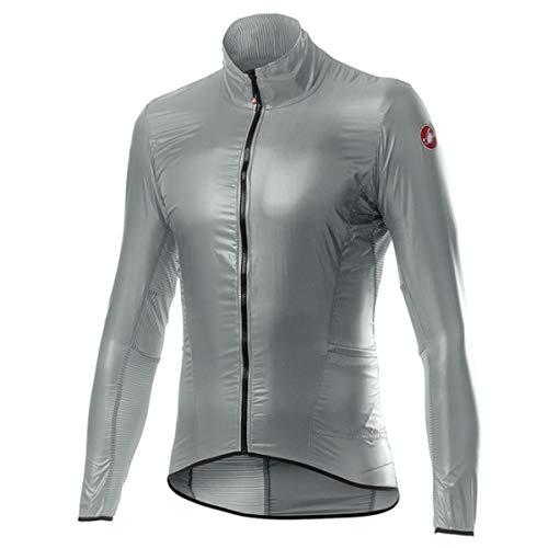 castelli Aria Shell, Chaqueta Deportiva para Hombre, Hombre, 4520058, Silver Gray, S