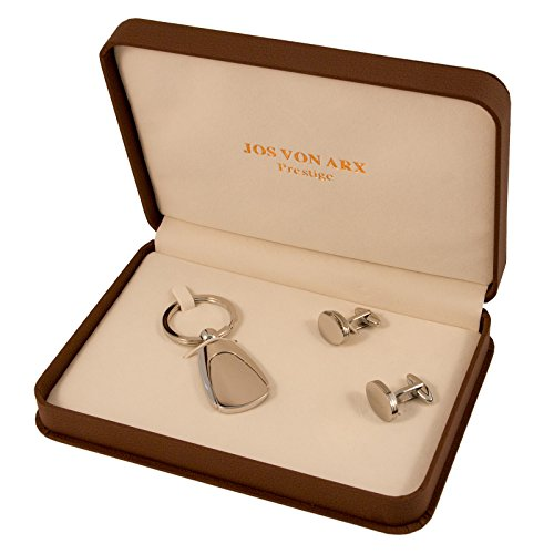 Jos Von Arx Oval Cuff links and engravable Key Ring