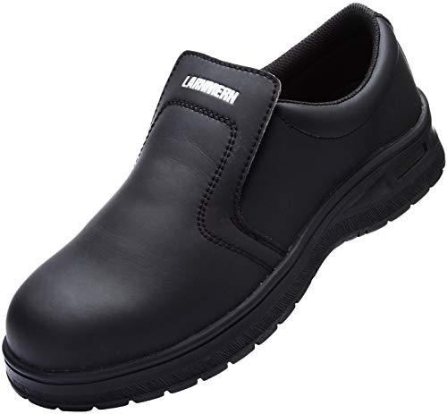 Hombre Zapatos de Seguridad,L8065 Cocina Cocinero Zapatos Anti-Estático Anti-Deslizante Anti-punción