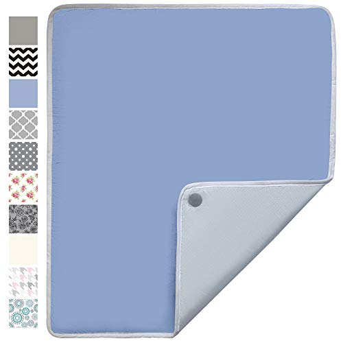 Gorilla Grip Premium Ironing Pad, Magnetic Laundry Pad, 28 x 24 Inch, Heat and Scorch Resistant, Iron Board Mat for Table Top, Washer, Dryer, Durable Pads Great for Travel, Blue