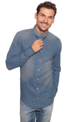 Boss Orange Emotion 50259381 Chemise pour homme Bleu foncé/bleu marine 402 M