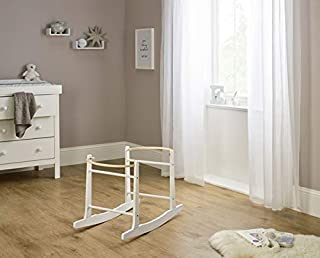 Clair de Lune Standard Rocking Moses Basket Stand (White)