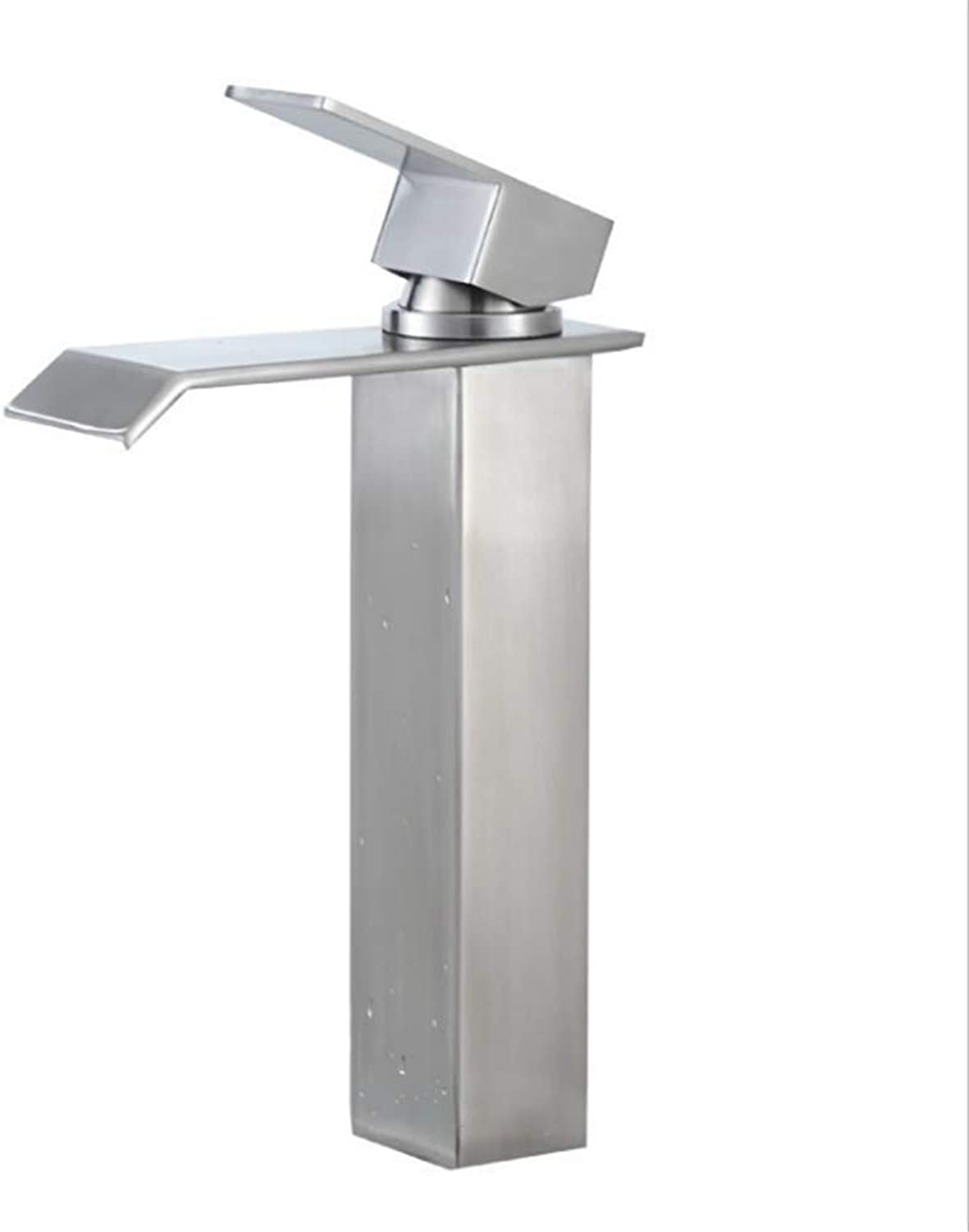Counter Drinking Designer Archbathroom Stainless Steel Terrace Basin Art Basin Faucet Plus High Waterfall Running Water