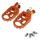 NAWQK Motocicleta CNC reposapies Pedales de pie descansa Durante 50 65 85 525 540 Fit for Husqvarna TC65 Yamaha YZ125X YZ250FX YZ450FX (Color : Orange)