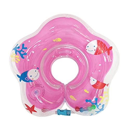 topxingch Baby-Schwimmen Aufblasbarer Halsring Cartoon Verdickter Kinder-Doppelluft-Swimmingpool Für Das Alter Von 3-72 Monaten Pink Rot