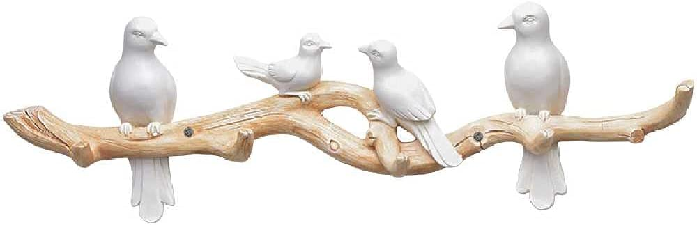N\C Max 57% OFF price Branch Decorative Bird Wall-Mounted Hook ha Coat Hanger
