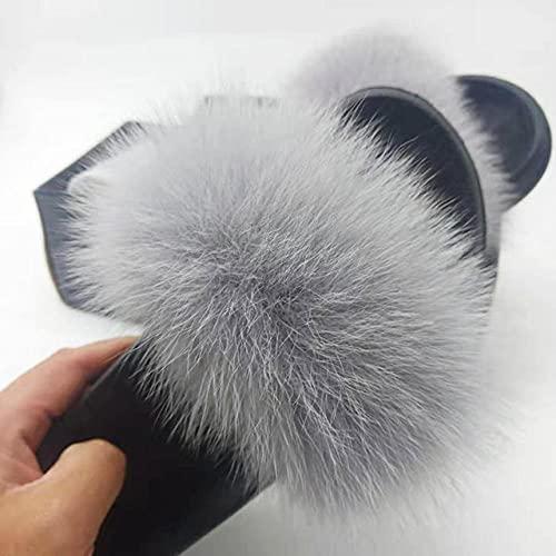 Perferct gumbies flip Flop Herren,Sommer Kinder Anti-Fox-Woll-Hausschuhe, Damenpelz Zo Sandschuhe-UK 8 (24,5 cm / 9.64