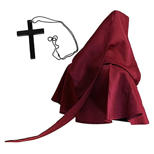 XuHangFF - Conjunto de collar de bruja con forma de cruz para Halloween, disfraz religioso