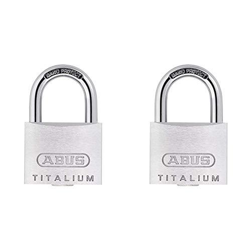 ABUS 561863 Vorhangschloss 64TI/30 aus Titalium & Titalium -Vorhängeschloss 64TI/20, 558788