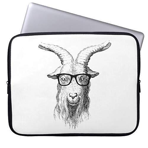 Hipster Goat Laptop Sleeve for MacBook Air 13 13.8 Inch Funny Laptop Case Waterproof Neoprene Computer Bag