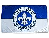 Sportverein Darmstadt 98 Fahne - Hissfahne Flagge mit Hohlsaum - 150x90cm - Original Lizenzprodukt