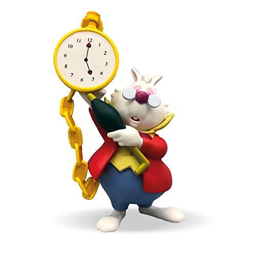 Bullyland 11402 - Spielfigur, Walt Disney Alice im Wunderland, weißes Kaninchen, ca. 8,1 cm groß,ideal als Torten-Figur, detailgetreu, PVC-frei, tolles Geschenk für Kinder zum fantasievollen Spielen