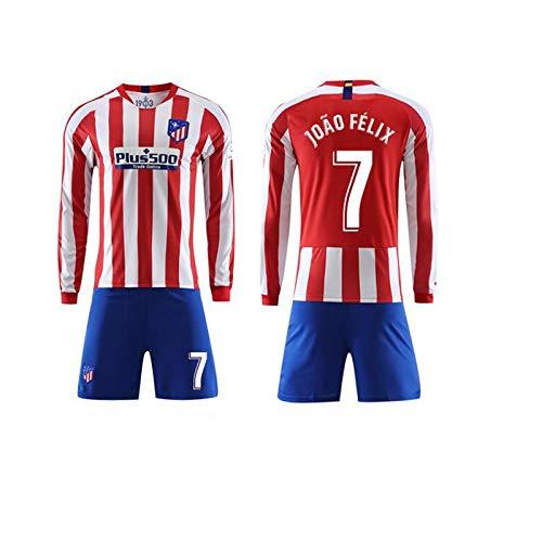 SMLSMGS Pantalones cortos de manga larga camiseta de los hombres de chándal rojo y Track juego blanco Atlético de Madrid Jersey 19-20 entrenamiento del fútbol torneo de fútbol usan uniformes ropa conj: