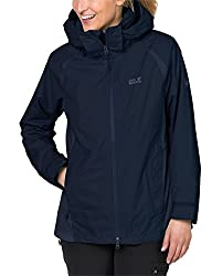 Jack Wolfskin Damen Hopewell Rocks 3-in-1 Jacke, Midnight Blue, L