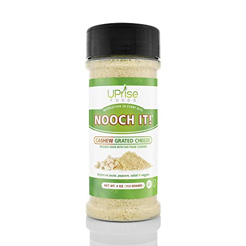 NOOCH IT! Fair Trade Dairy-Free Cashew Grated Cheeze | Vegan Parmesan ● Tasty Cheese Alternative |...