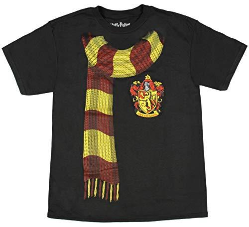 Harry Potter Big Boys Gryffindor Scarf T-shirt (X-Large)