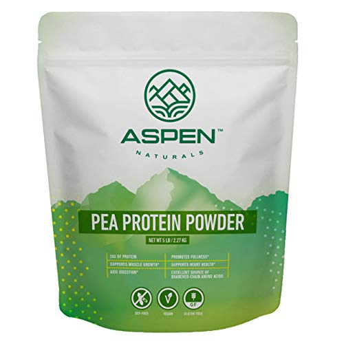 Aspen Naturals Pea Protein Powder - 5 lb Bulk Bag. Unflavored, Plant Based, Gluten Free, Non-GMO, Vegan Protein Powder. Supports Muscle Growth and Recovery. Keto & Low Carb