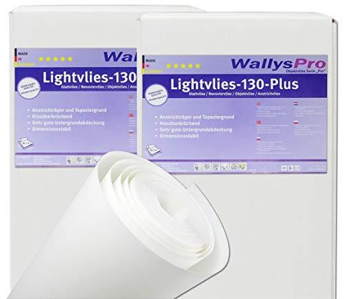 8x Glattvlies Renoviervlies Lightvlies 130 Plus (150m²) überstreichbare Vliestapete glatt