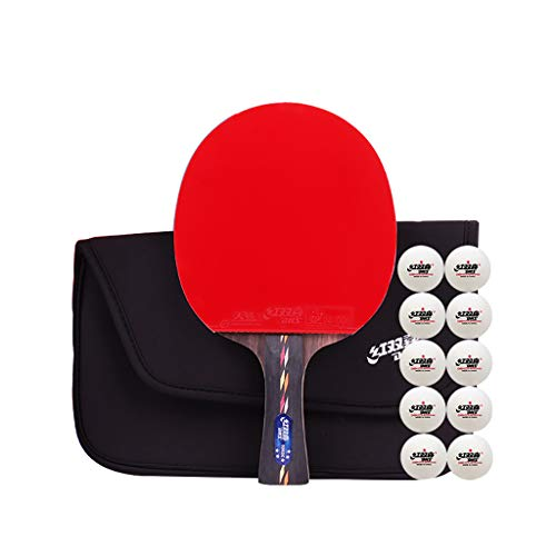 Review Of 4 Star Professional Ping Pong Paddle,Pro Premium Rackets,with Carbon Technology for Tourna...